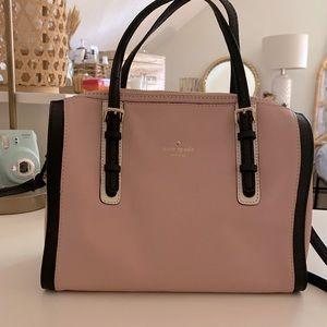 kate spade pink and black satchel purse